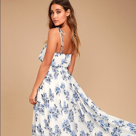 d330f2366ad5 Lulu s Dresses   Skirts - Lulu s Pollen for You Floral Maxi Dress 💐